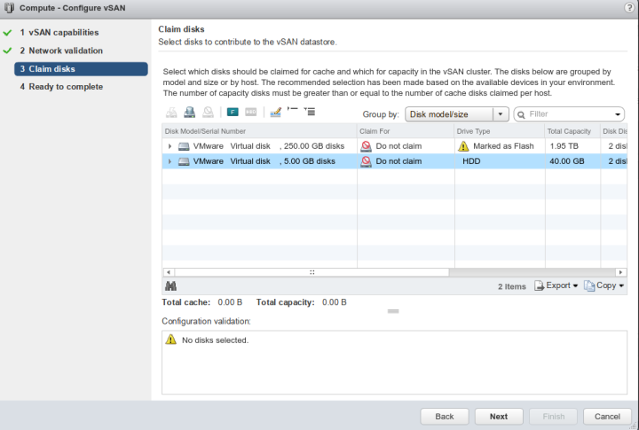 VSAN Mark flash disks